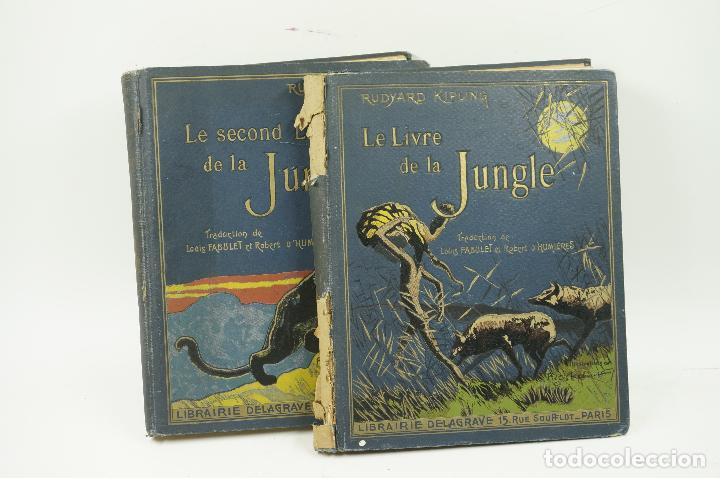 LE LIVRE DE LA JUNGLE, KIPLING. 2 VOL. EN FRANCÉS. 1933, 23X28CM. LIBRAIRIE DELAGRAVE (Libros antiguos (hasta 1936), raros y curiosos - Literatura - Narrativa - Ciencia Ficción y Fantasía)