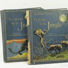 Libros antiguos: LE LIVRE DE LA JUNGLE, KIPLING. 2 VOL. EN FRANCÉS. 1933, 23X28CM. LIBRAIRIE DELAGRAVE. Lote 81979680