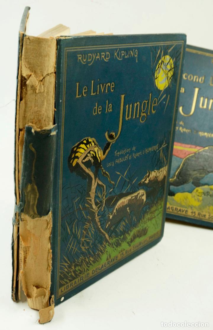 Libros antiguos: LE LIVRE DE LA JUNGLE, KIPLING. 2 VOL. EN FRANCÉS. 1933, 23X28CM. LIBRAIRIE DELAGRAVE - Foto 2 - 81979680