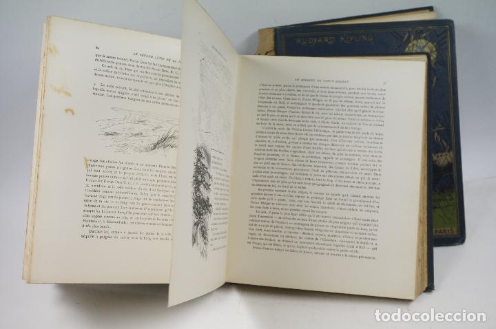 Libros antiguos: LE LIVRE DE LA JUNGLE, KIPLING. 2 VOL. EN FRANCÉS. 1933, 23X28CM. LIBRAIRIE DELAGRAVE - Foto 4 - 81979680