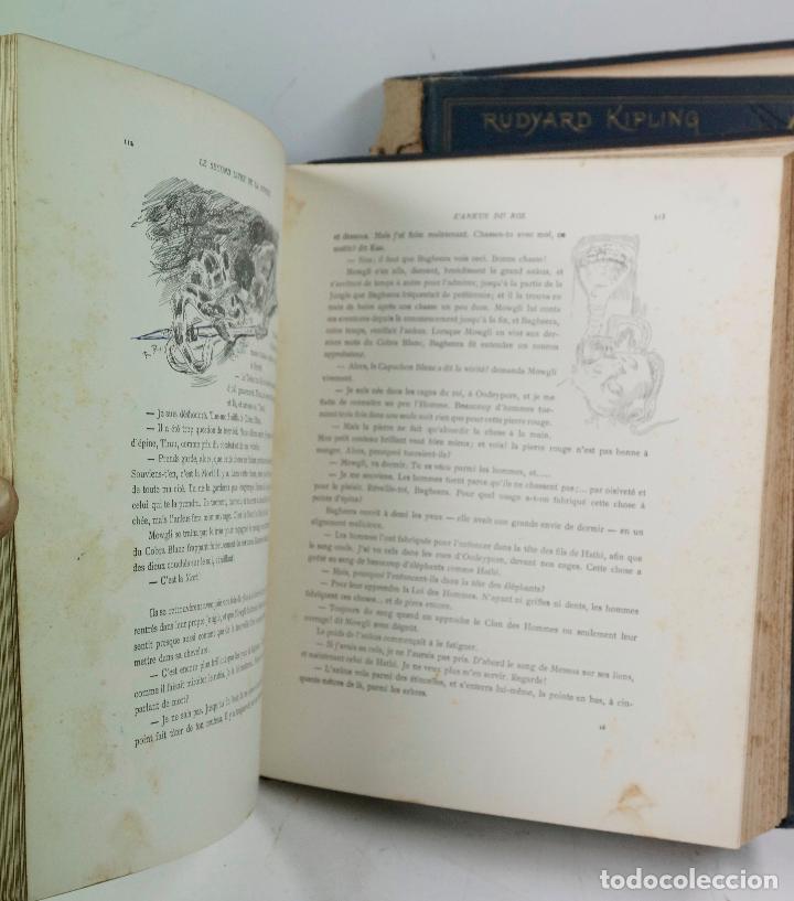 Libros antiguos: LE LIVRE DE LA JUNGLE, KIPLING. 2 VOL. EN FRANCÉS. 1933, 23X28CM. LIBRAIRIE DELAGRAVE - Foto 6 - 81979680
