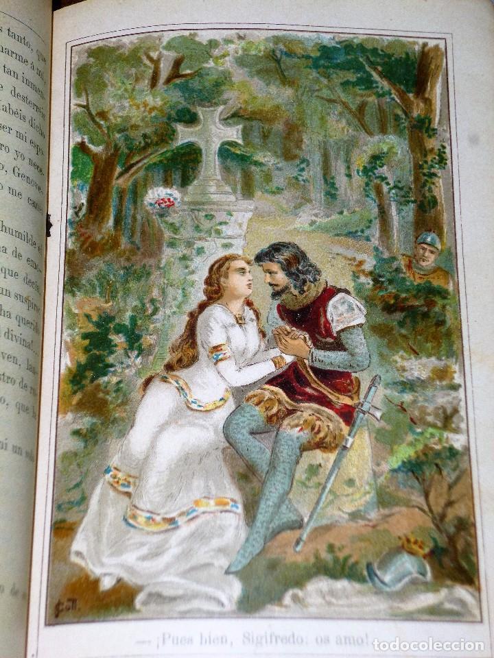 Libros antiguos: GENOVEVA DE BRABANTE. LEYENDA HISTÓRICA. 2 tomos - Foto 4 - 86491760