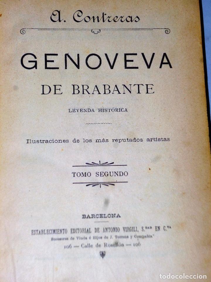 Libros antiguos: GENOVEVA DE BRABANTE. LEYENDA HISTÓRICA. 2 tomos - Foto 7 - 86491760