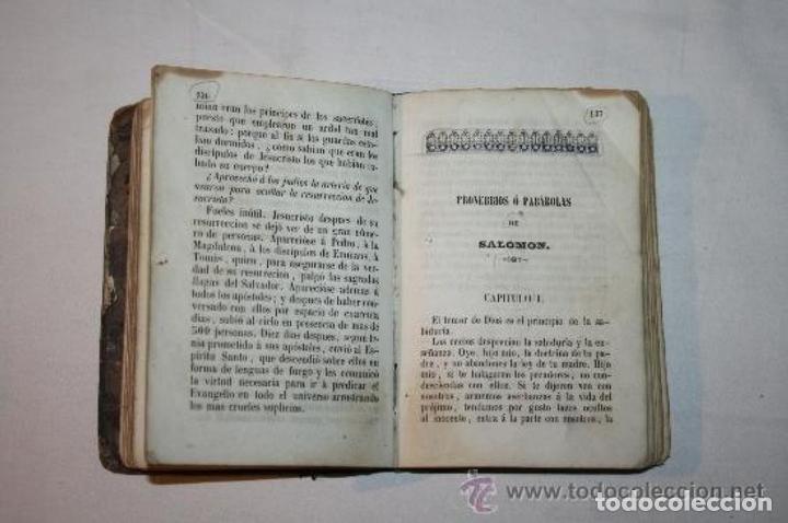 Libros antiguos: 0903 - HISTORIA SAGRADA PROVERBIOS Ó PARABOLAS FÁBULAS DE FELIX MARIA DE SAMANIEGO. - Foto 11 - 91795304
