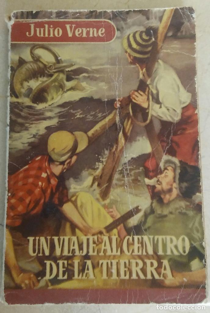 UN VIAJE AL CENTRO DE LA TIERRA JULIO VERNE 1ª EDICION AÑO 1.954 (Libros antiguos (hasta 1936), raros y curiosos - Literatura - Narrativa - Ciencia Ficción y Fantasía)