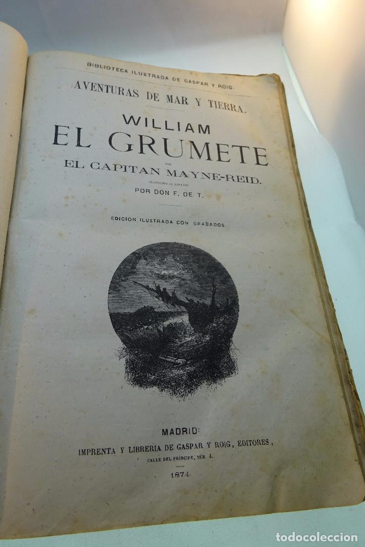 Libros antiguos: NOVELAS CIENTÍFICAS - TOMO I - MAYNE-REID - COLECCIÓN DE 16 NOVELAS DE FICCIÓN - 1870 - MADRID - - Foto 6 - 95165103