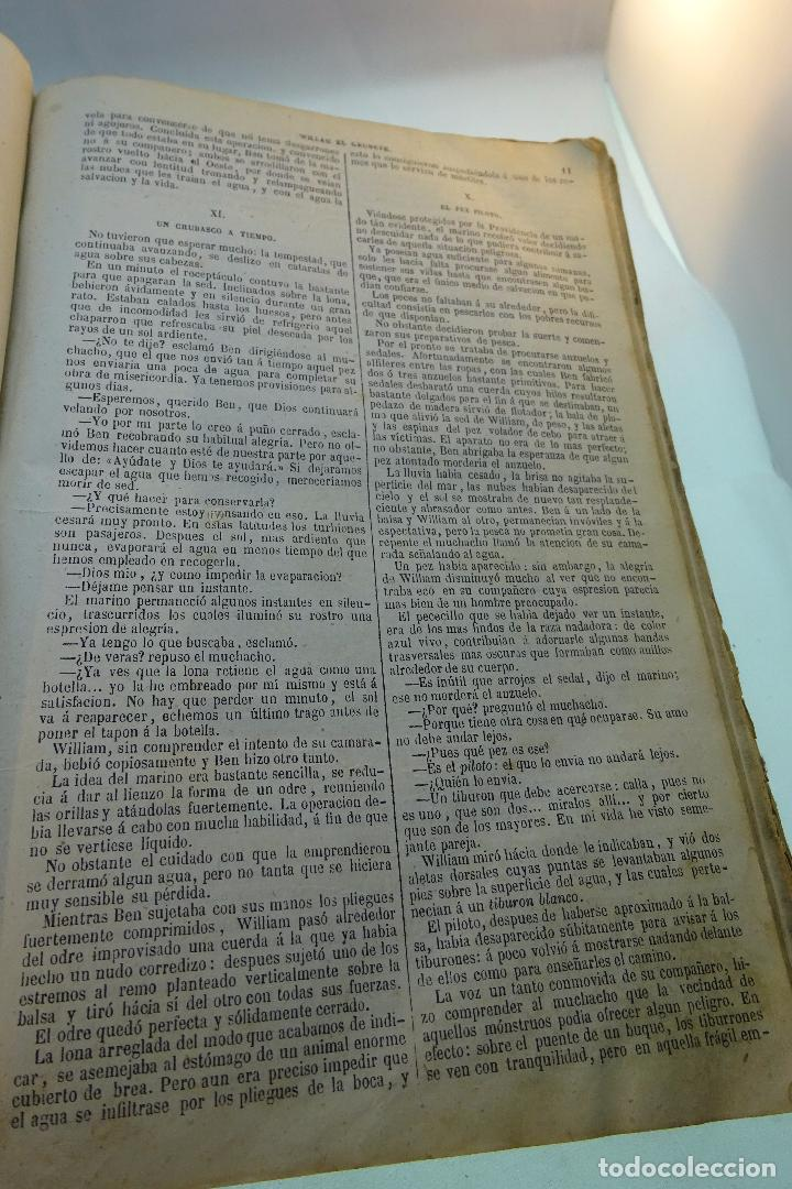Libros antiguos: NOVELAS CIENTÍFICAS - TOMO I - MAYNE-REID - COLECCIÓN DE 16 NOVELAS DE FICCIÓN - 1870 - MADRID - - Foto 7 - 95165103