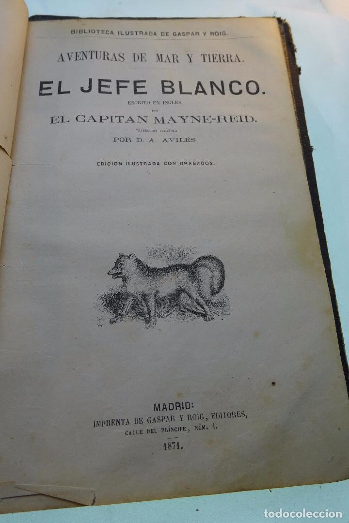 Libros antiguos: NOVELAS CIENTÍFICAS - TOMO I - MAYNE-REID - COLECCIÓN DE 16 NOVELAS DE FICCIÓN - 1870 - MADRID - - Foto 10 - 95165103