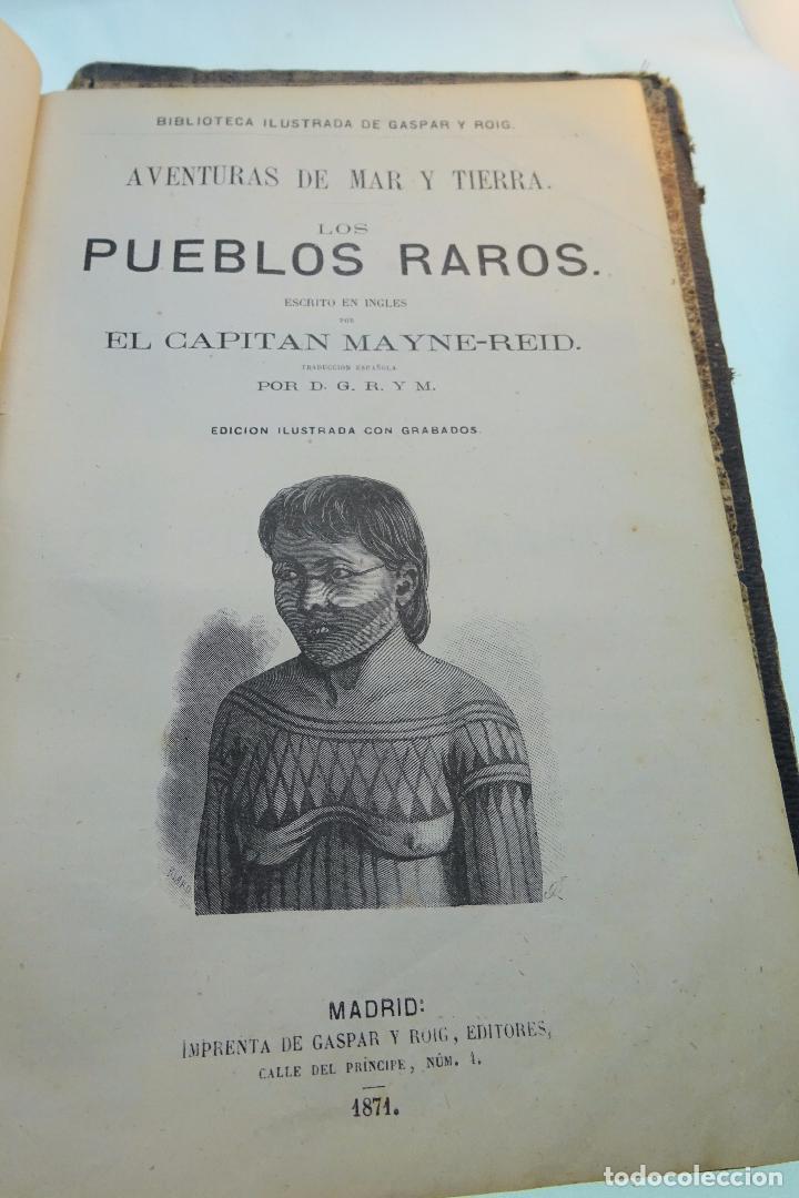 Libros antiguos: NOVELAS CIENTÍFICAS - TOMO I - MAYNE-REID - COLECCIÓN DE 16 NOVELAS DE FICCIÓN - 1870 - MADRID - - Foto 11 - 95165103