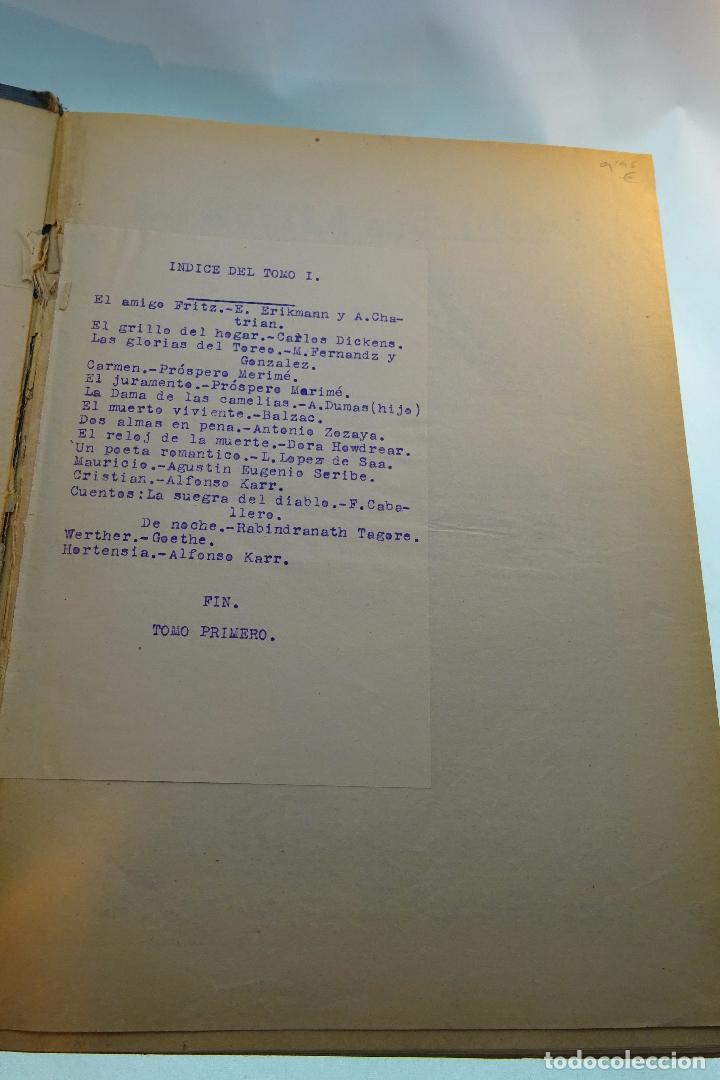 Libros antiguos: LA NOVELA DE LA LIBERTAD - EMILIO ERCKMANN Y ALEJANDRO CHATRAIN - TOMO I - AÑOS 20 - - Foto 2 - 95165591