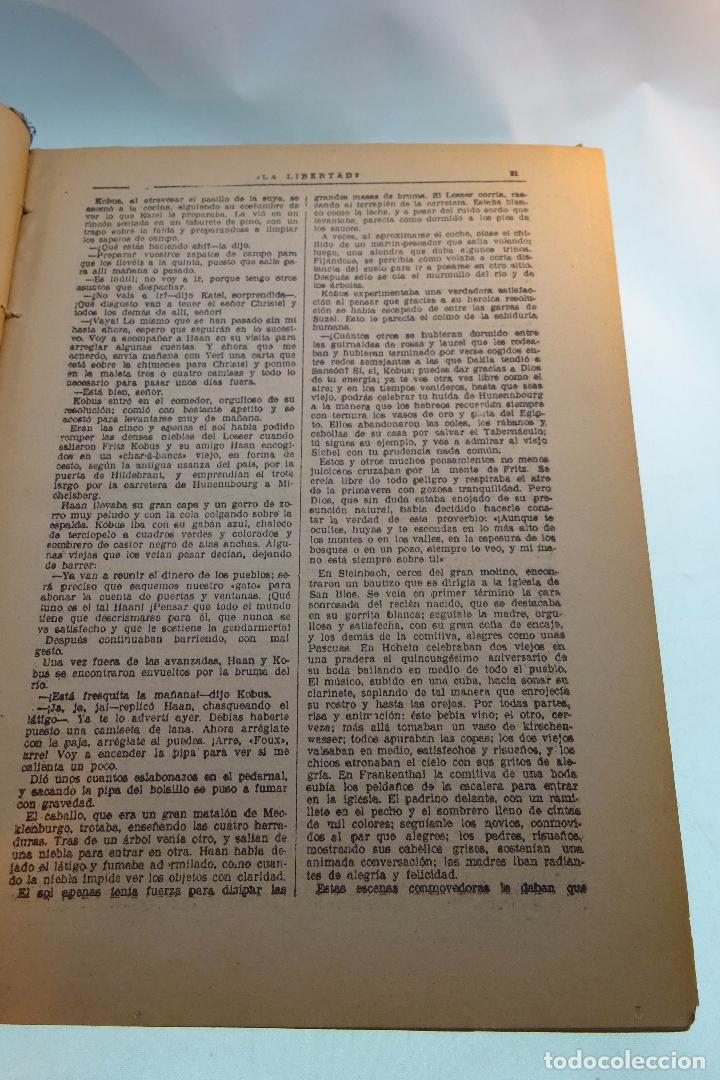 Libros antiguos: LA NOVELA DE LA LIBERTAD - EMILIO ERCKMANN Y ALEJANDRO CHATRAIN - TOMO I - AÑOS 20 - - Foto 3 - 95165591
