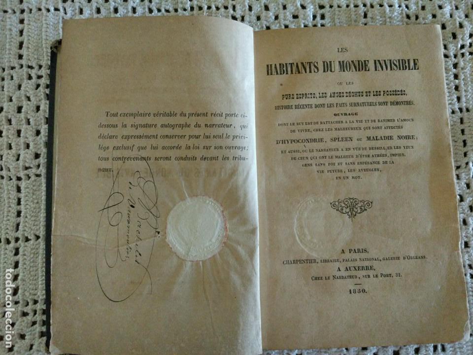 LES HABITANTS DU MONDE INVISIBLE OU LES PURS ESPRITS, LES ANGES DÉCHUS ET LES POSSÉDÉS. (1850) (Libros antiguos (hasta 1936), raros y curiosos - Literatura - Narrativa - Ciencia Ficción y Fantasía)