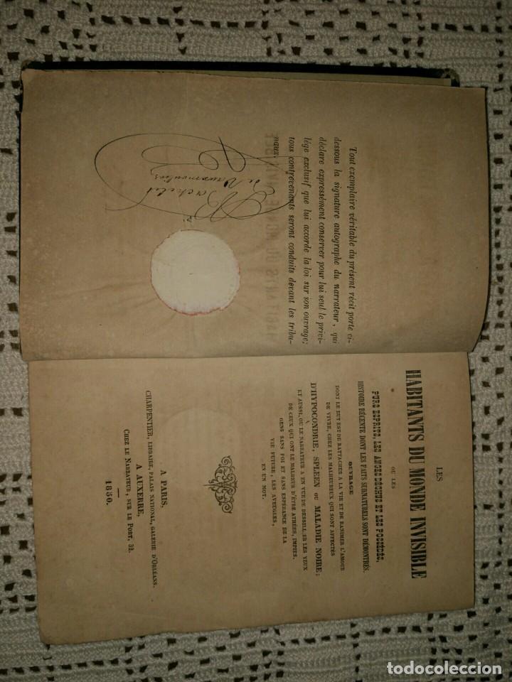Libros antiguos: Les habitants du monde invisible ou les purs esprits, les anges déchus et les possédés. (1850) - Foto 2 - 95229711