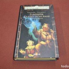 Libros antiguos: ELMINSTER LA FORJA DE UN MAGO - REINOS OLVIDADOS - ED GREENWOOD - ALTAYA - NFB. Lote 95398119