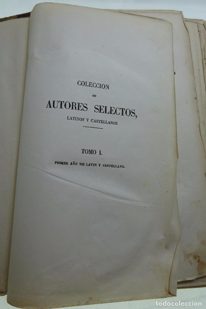Libros antiguos: COLECCION DE AUTORES SELECTOS, LATINOS Y CASTELLANOS - TOMO I - EN LATÍN - MADRID - 1851 - - Foto 2 - 95430439