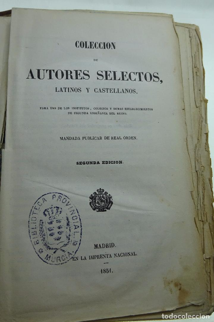 Libros antiguos: COLECCION DE AUTORES SELECTOS, LATINOS Y CASTELLANOS - TOMO I - EN LATÍN - MADRID - 1851 - - Foto 3 - 95430439