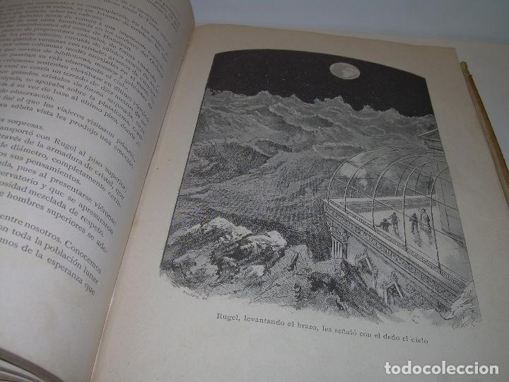 Libros antiguos: UN MUNDO DESCONOCIDO. DOS AÑOS EN LA LUNA....SIGLO XIX. - Foto 4 - 97133107