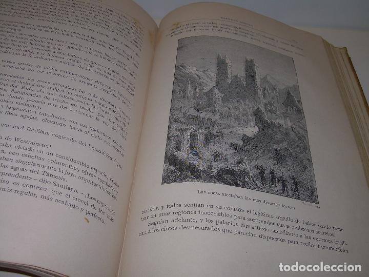 Libros antiguos: UN MUNDO DESCONOCIDO. DOS AÑOS EN LA LUNA....SIGLO XIX. - Foto 5 - 97133107