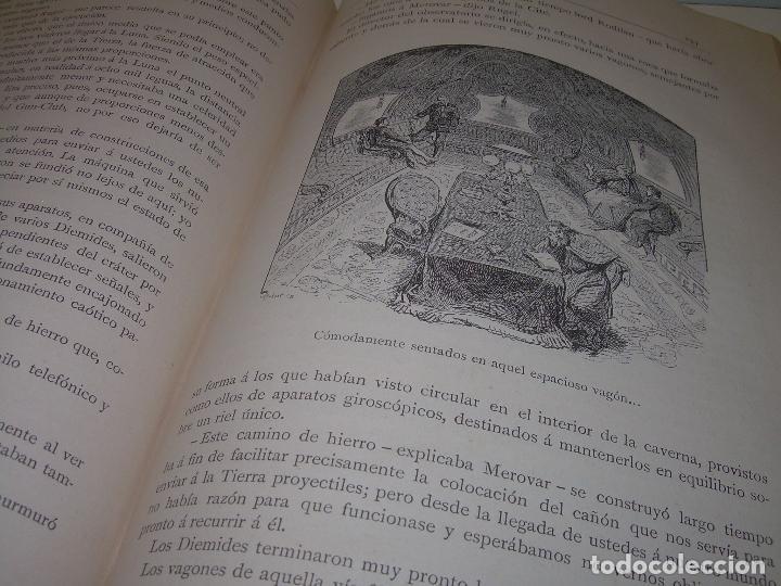 Libros antiguos: UN MUNDO DESCONOCIDO. DOS AÑOS EN LA LUNA....SIGLO XIX. - Foto 9 - 97133107