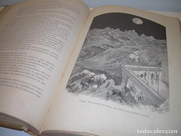 Libros antiguos: UN MUNDO DESCONOCIDO. DOS AÑOS EN LA LUNA....SIGLO XIX. - Foto 11 - 97133107