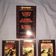Libros antiguos: TRILOGÍA LEYENDAS DE LA DRAGONLANCE. MARGARET WEIS Y TRACY HICKMAN. EDICIÓN 1994. TIMUN MAS. Lote 98359243