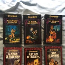Libros antiguos: LOTE 6 LIBROS 2 TRILOGÍAS PRELUDIOS DE LA DRAGONLANCE COMPLETAS. Lote 98360731