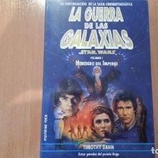 Libros antiguos: HEREDEROS DEL IMPERIO - STAR WARS - LA GUERRA DE LAS GALAXIAS - DARTH VADER -SKYWALKER- TIMOTHY ZAHN. Lote 102600419