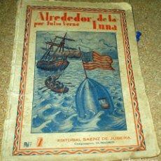 Libros antiguos: ALREDEDOR DE LA LUNA, JULIO VERNE, EDITOR SAENZ DE JUBERA DE OBRAS COMPLETAS DE JULIO VERNE. Lote 102689703