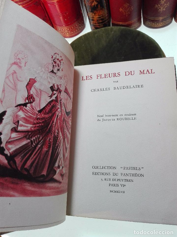 Libros antiguos: LES FLEURS DU MAL - CHARLES BAUDELAIRE - COLLECTION PASTELS - ED. DU PANTHEON - PARIS - 1947 - - Foto 2 - 103617451