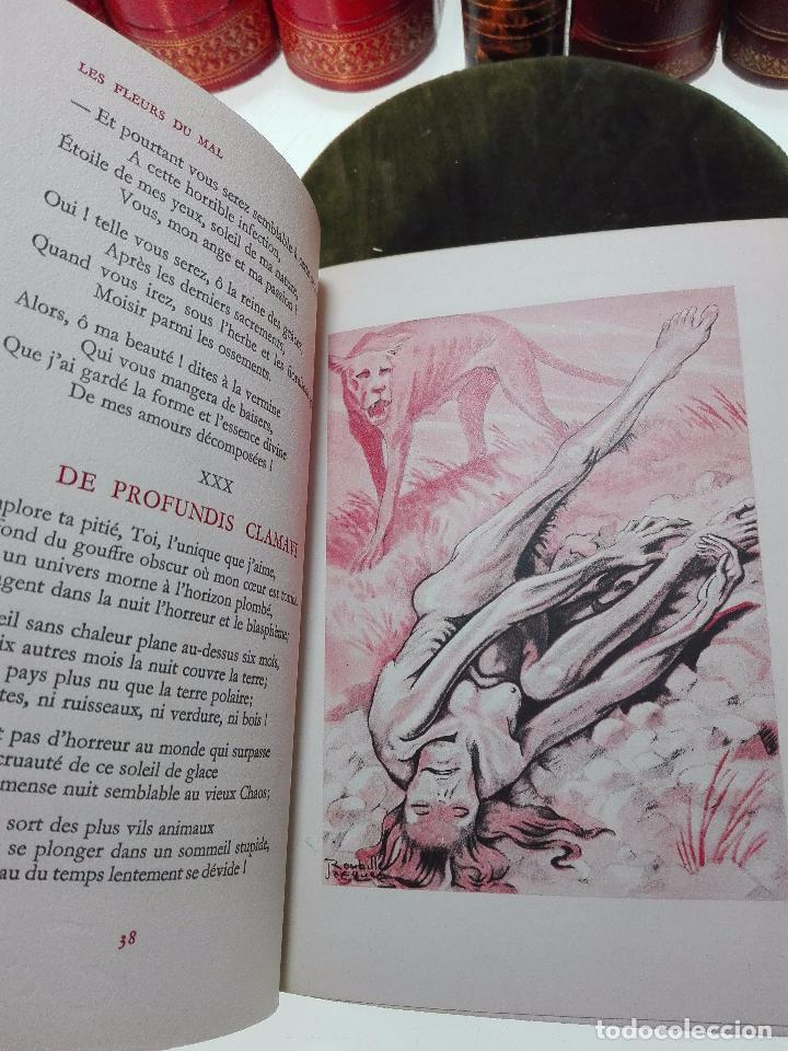 Libros antiguos: LES FLEURS DU MAL - CHARLES BAUDELAIRE - COLLECTION PASTELS - ED. DU PANTHEON - PARIS - 1947 - - Foto 3 - 103617451