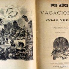 Libros antiguos: L-2529.DOS AÑOS DE VACACIONES/ 20.000 LEGUAS DE VIAJE SUBMARINO/LA ISLA MISTERIOSA. VERNE. 1886.. Lote 103621463