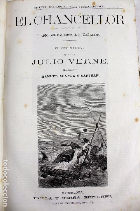 Libros antiguos: L-4568. OBRAS INÉDITAS DE JULIO VERNE. FINALES SIGLO XIX. BARCELONA 1886. - Foto 3 - 104307731
