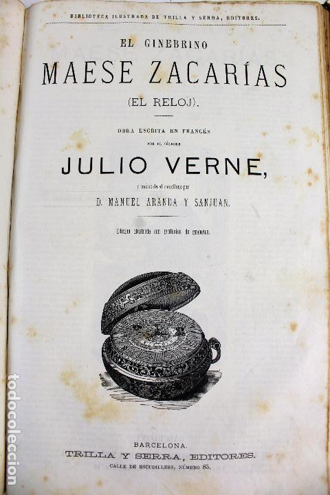 Libros antiguos: L-4568. OBRAS INÉDITAS DE JULIO VERNE. FINALES SIGLO XIX. BARCELONA 1886. - Foto 7 - 104307731