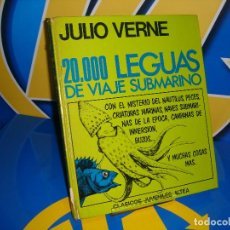 Libros antiguos: LIBRO 20.000 LEGUAS DE VIAJE SUBMARINO DE JULIO VERNE-ILUSTRADO-EDICION 1978. Lote 107562767