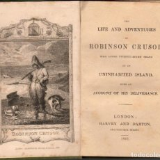 Libros antiguos: THE LIFE AND ADVENTURES OF ROBINSON CRUSOE (LONDON, 1842). Lote 108430331