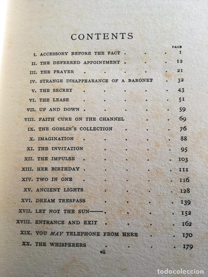 Libros antiguos: ALGERNON BLACKWOOD: TEN MINUTE STORIES, HISTORIAS DE DIEZ MINUTOS (1914) - LITERATURA FANTÁSTICA - Foto 5 - 109206935
