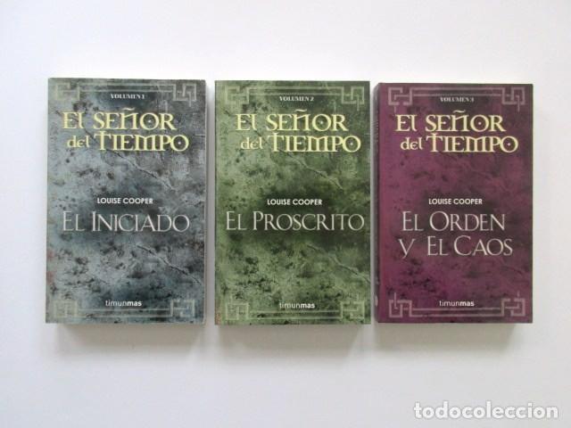 Libros antiguos: ESTUCHE EL SEÑOR DEL TIEMPO, IMPECABLE, CON LOS TRES LIBROS, LOUISE COOPER, MUY DESCATALOGADO - Foto 3 - 208176045