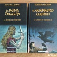 Libros antiguos: LA LEYENDA DE GINEVERE 1 Y 2 LA REINA DRAGON Y EL GUERRERO CUERVO DE ALICE BORCHARDT. Lote 113909579