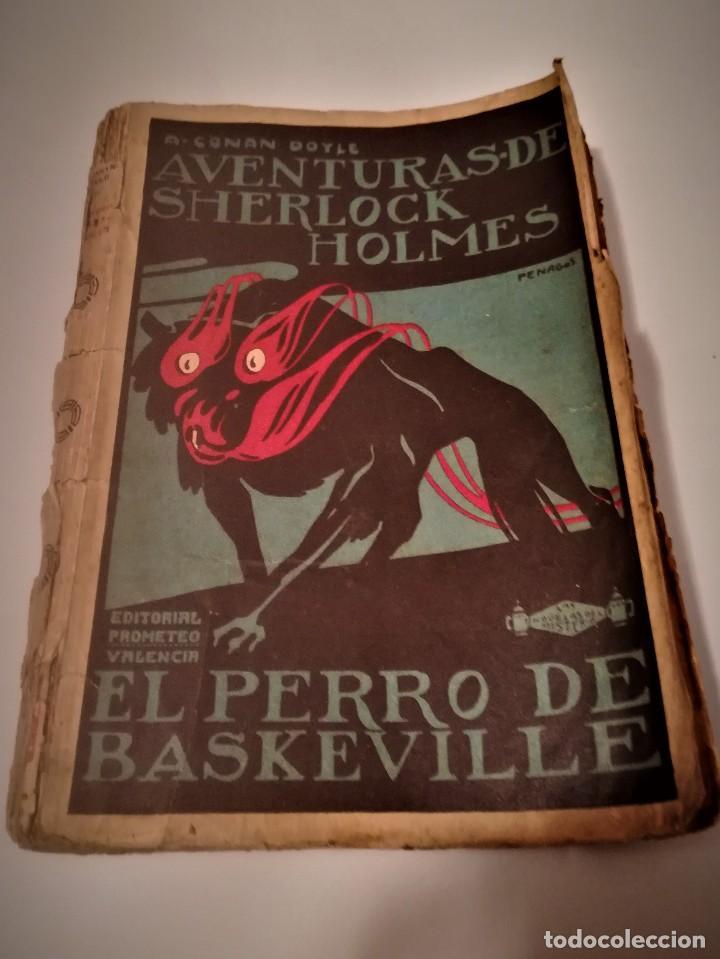 ARTHUR CONAN DOYLE, AVENTURAS DE SHERLOCK HOLMES, EL PERRO DE BASKERVILLE,DIBUJO PORTADA PENAGOS (Libros antiguos (hasta 1936), raros y curiosos - Literatura - Narrativa - Ciencia Ficción y Fantasía)