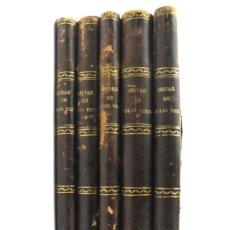 Libros antiguos: *L-3416 OBRAS DE JULIO VERNE .5 VOLUMENES ILUSTRADOS CON GRABADOS. ED SAENZ DE JUBERA. AÑOS 20. Lote 114250575