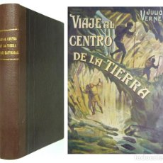 Libros antiguos: 1931 - JULIO VERNE: VIAJE AL CENTRO DE LA TIERRA / AVENTURAS DEL CAPITÁN HATTERAS - CUBIERTAS. Lote 114826479