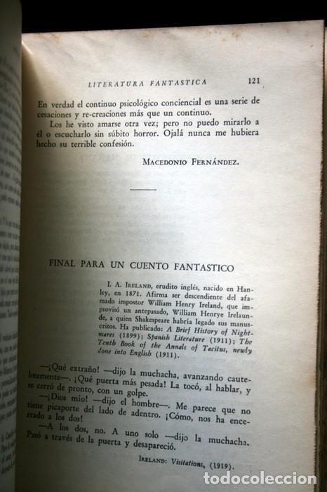 Libros antiguos: ANTOLOGIA DE LA LITERATURA FANTASTICA - BORGES - OCAMPO - BIOY CASARES - 1940 - primera edición - Foto 6 - 118712531