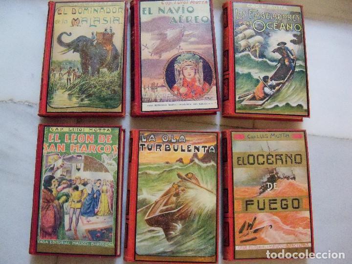 Libros antiguos: COLECCION COMPLETA DE LA EDITORIAL MAUCCI DE LAS NOVELAS DEL CAPITAN LUIGGI MOTA - Foto 3 - 122242071