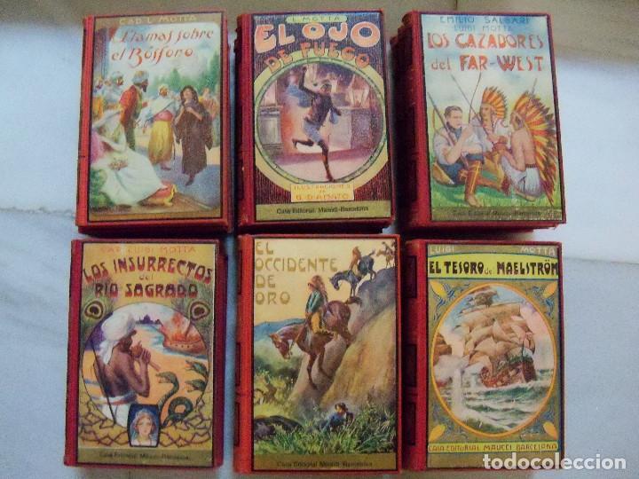 Libros antiguos: COLECCION COMPLETA DE LA EDITORIAL MAUCCI DE LAS NOVELAS DEL CAPITAN LUIGGI MOTA - Foto 7 - 122242071