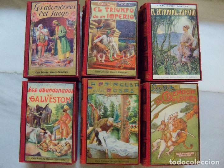 Libros antiguos: COLECCION COMPLETA DE LA EDITORIAL MAUCCI DE LAS NOVELAS DEL CAPITAN LUIGGI MOTA - Foto 8 - 122242071