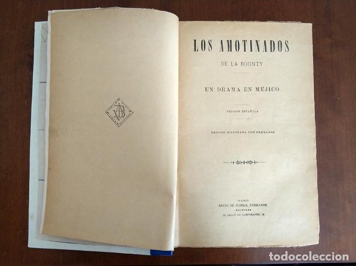 Libros antiguos: tomo con 5 novelas julio verne Veinte mil leguas de viaje submarino 1878 1879 ver mas en descripcion - Foto 2 - 125279427