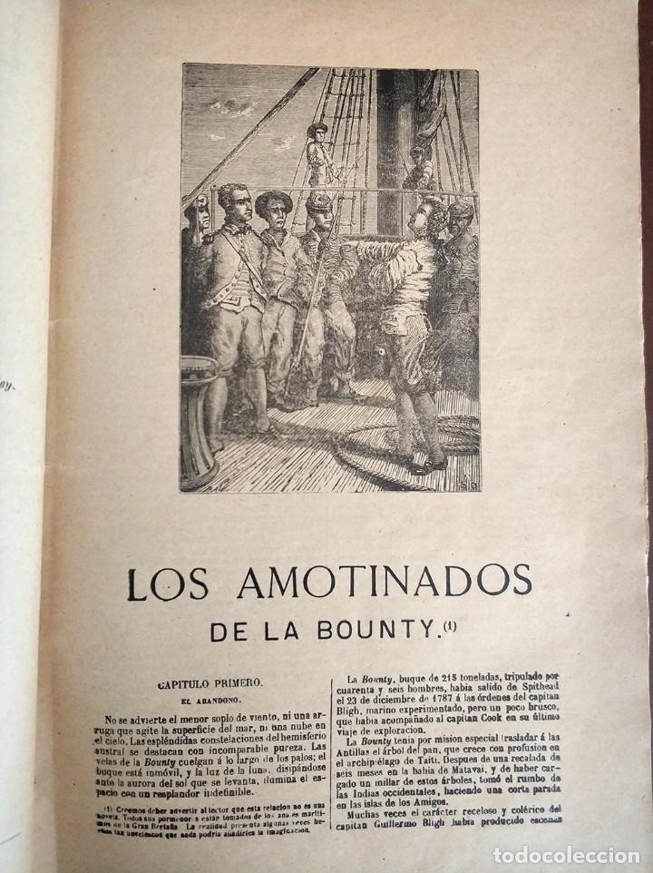 Libros antiguos: tomo con 5 novelas julio verne Veinte mil leguas de viaje submarino 1878 1879 ver mas en descripcion - Foto 3 - 125279427