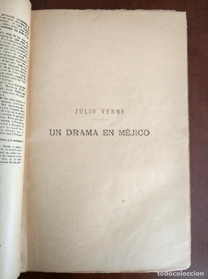 Libros antiguos: tomo con 5 novelas julio verne Veinte mil leguas de viaje submarino 1878 1879 ver mas en descripcion - Foto 4 - 125279427
