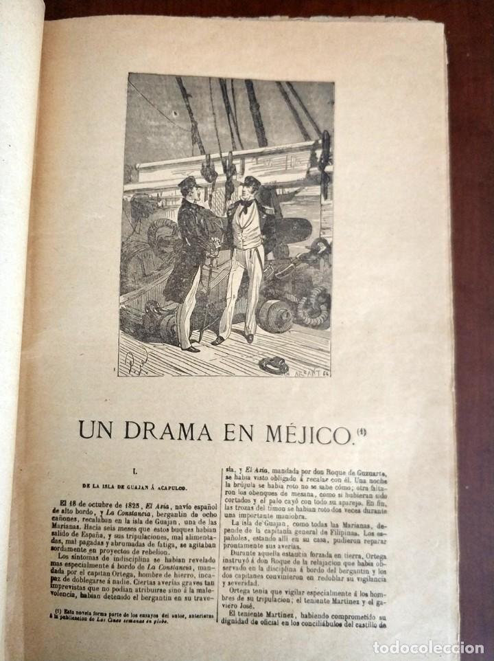 Libros antiguos: tomo con 5 novelas julio verne Veinte mil leguas de viaje submarino 1878 1879 ver mas en descripcion - Foto 5 - 125279427