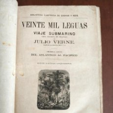 Libros antiguos: TOMO CON 5 NOVELAS JULIO VERNE VEINTE MIL LEGUAS DE VIAJE SUBMARINO 1878 1879 VER MAS EN DESCRIPCION. Lote 125279427